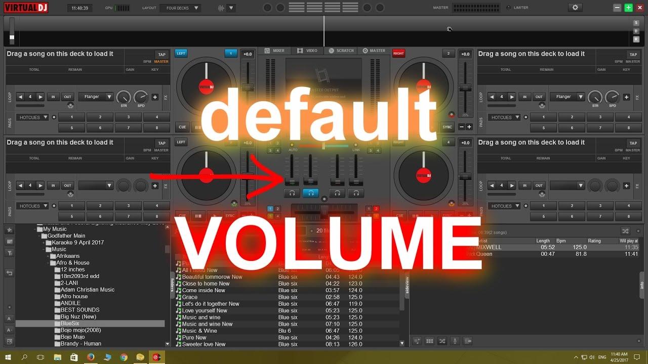 Start Virtual DJ 8 default volume level at zero TUTORIAL