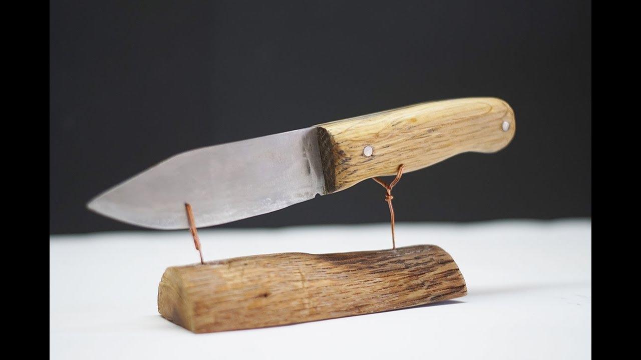Como hacer cuchillo con disco de corte reciclado youtube for Cuchillo de corte