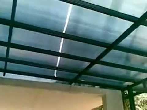 awning dari baja ringan minimalis finishing cat youtube