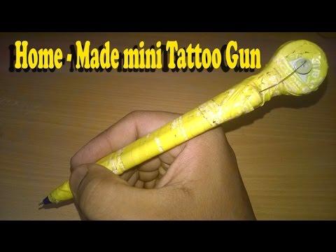 How to make a home made mini tattoo gun tattoo machine for How to assemble tattoo gun