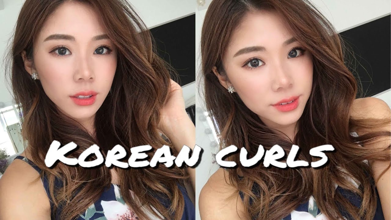 Styling Asian Hair: Natural Korean Waves / Curls Hairstyle
