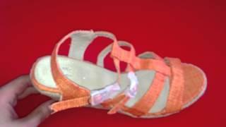 HL201211 оранжевые эспадрильи. Видео-обзор от Обувенко.com.ua