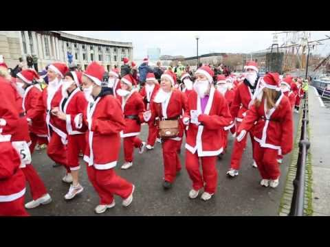 Santas on the run, Bristol 2013