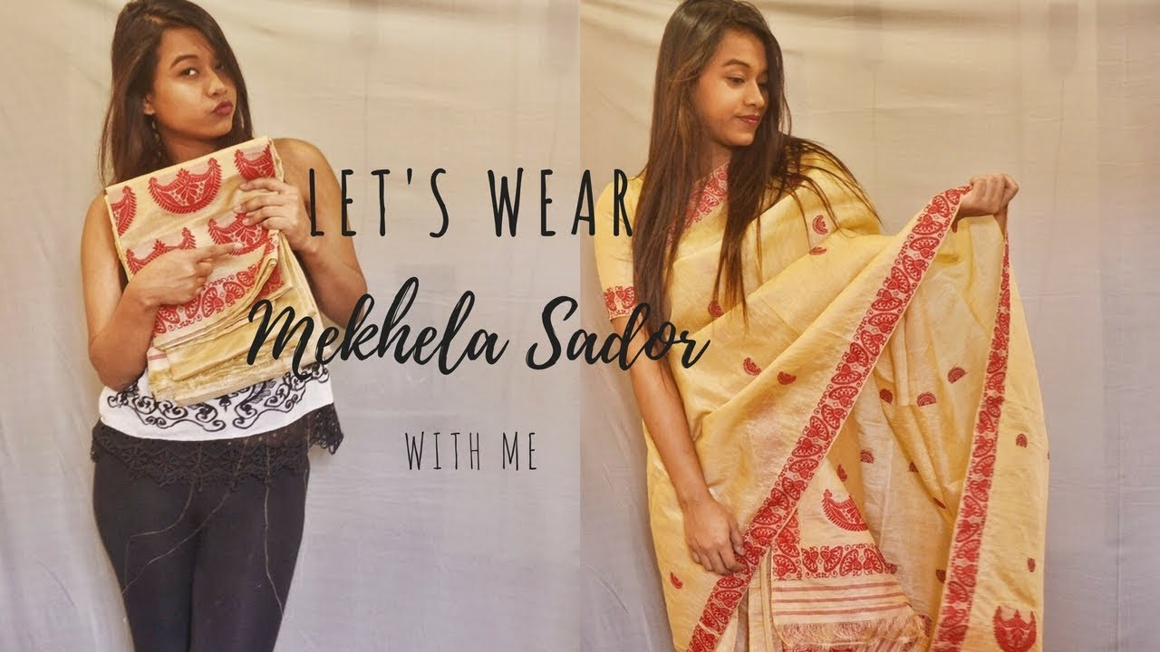 How to mekhla wear chadar 2019