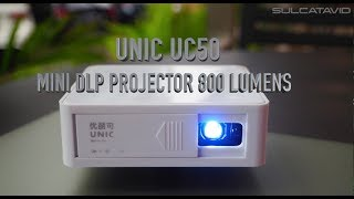 UNIC UC50 - Mini portable and cheap DLP Projector