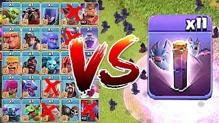 "ALL BATS vs. ALL TROOPS!! ""Clash Of Clans"" TROLL ATTACK UPDATE!!"