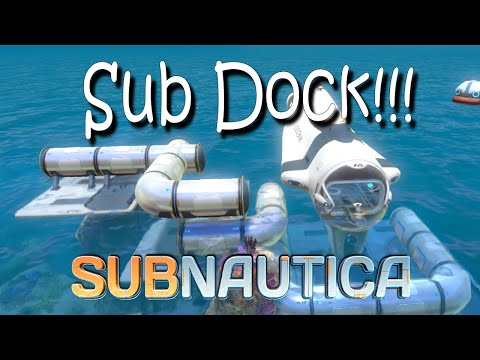 Subnautica Cyclops Docking Station Build and Sea Base! 1080p