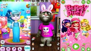 My Talking Angela Vs Strawberry Shortcake Berry Rush Talking Tom 2 || Great Makeover Gameplay HD