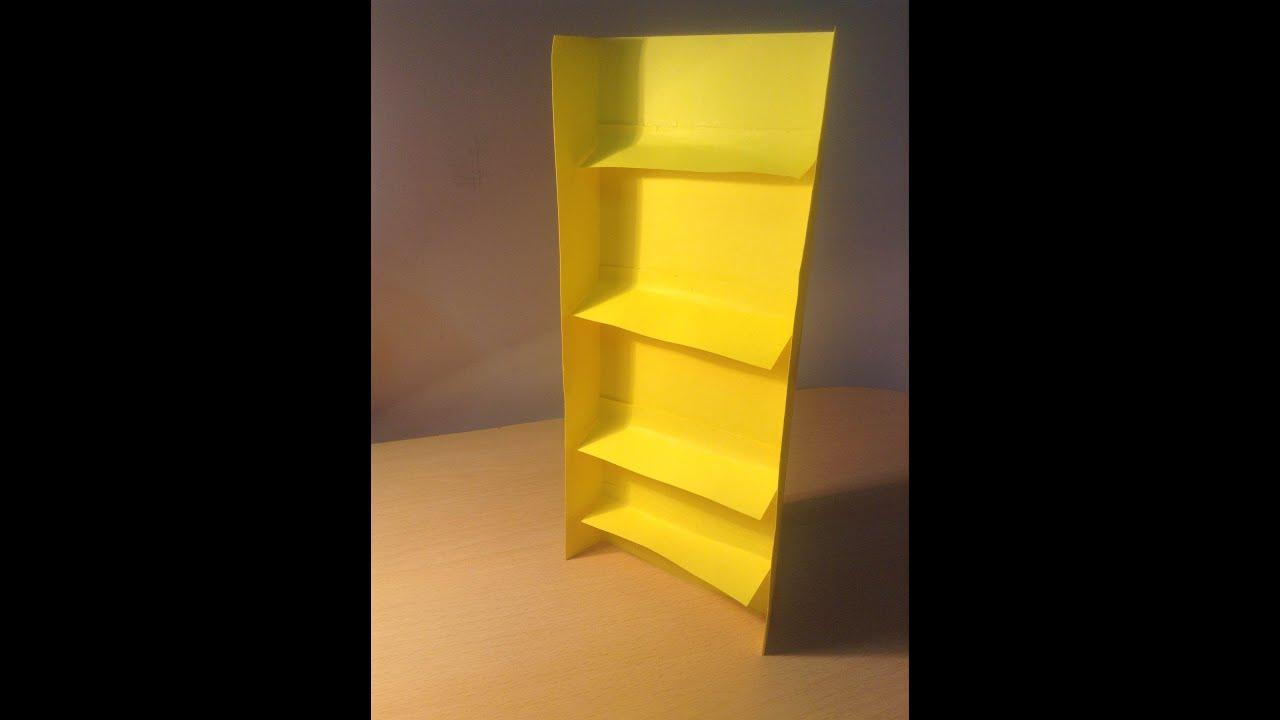 how to make a paper origami bookshelf tutorial origami