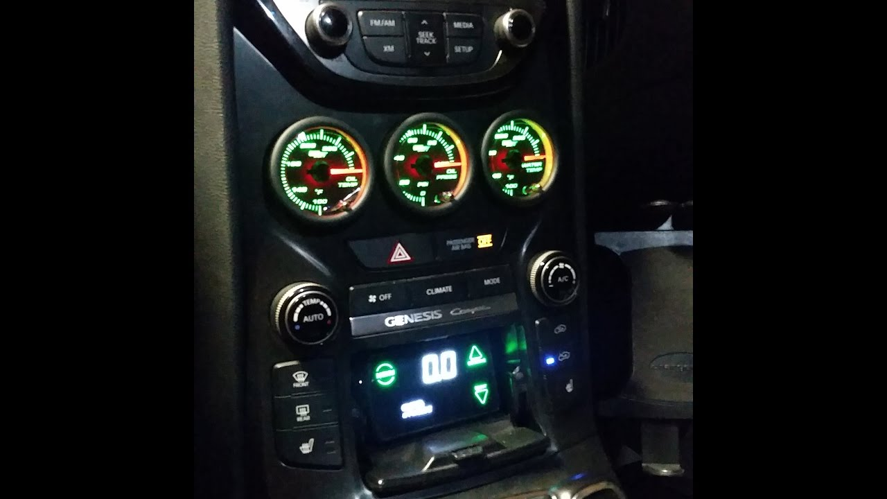 complete triple gauge install in a genesis coupe youtube 2013 genesis coupe gauges wiring diagram [ 1280 x 720 Pixel ]