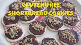 Shortbread Cookies With Chocolate Glaze ~ Gluten Free