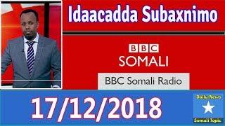 Idaacadda Subaxnimo, BBC Somali Radio, Morning December 17 2018