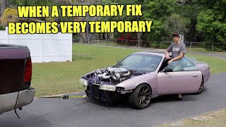 Took The Twin Turbo S14 For a Drive and The Engine Locked up...