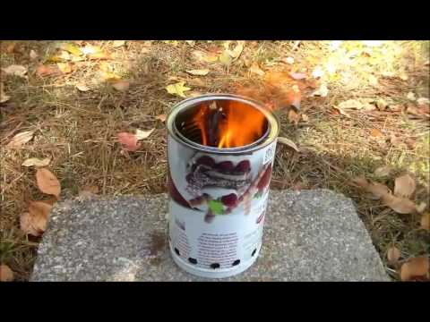 DIY Wood Stove And First Burn
