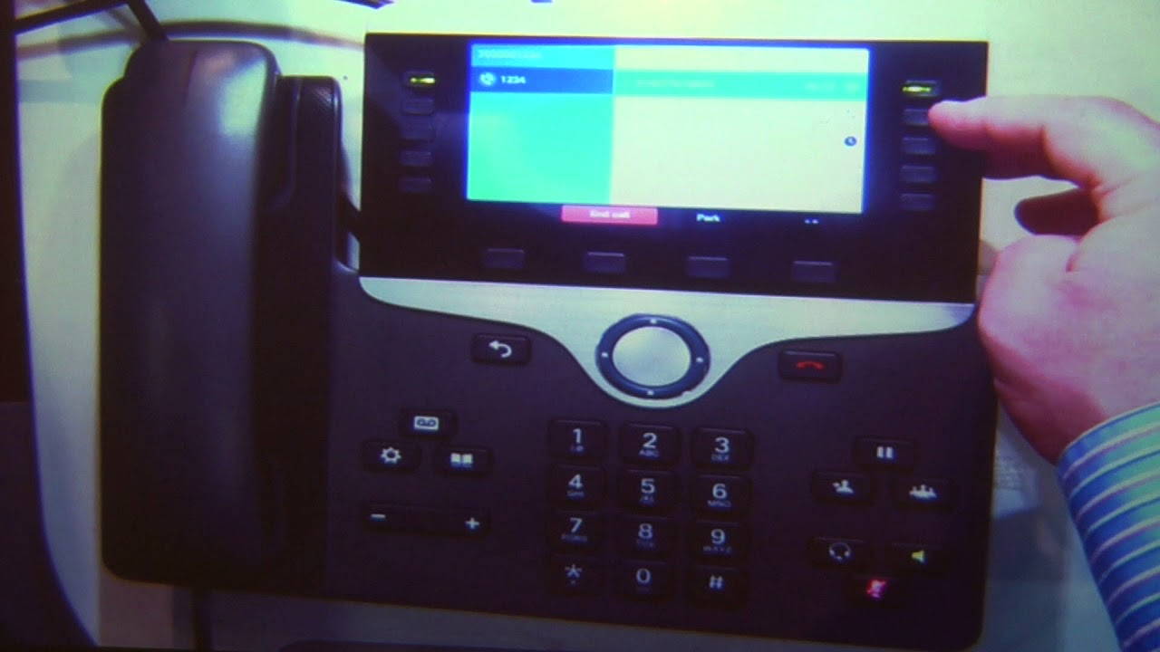 07 Cisco IP Phone 8841 Joining Two Calls Together