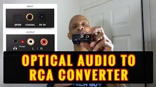 Optical Audio to RCA Audio Converter