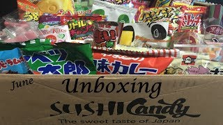 Sushi Candy June 2018 Unboxing And Tasting!