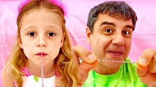 Nastya perdió su diente y recibió regalos del hada de los dientes