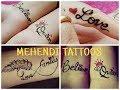 Stylish Tattoo mehndi designs | Easily Temporary Tattoo mehndi | 2018 | mehndi designs