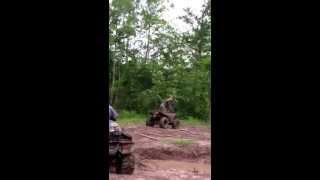 Ridin trails at gator run atv park