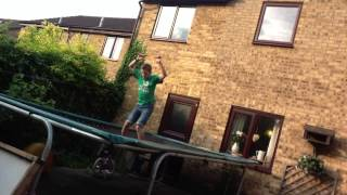 Guinness World Record Most Frontflips on a trampoline in one minute