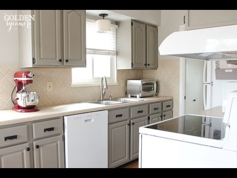 Chalk Paint On Kitchen Cabinets chalk paint kitchen cabinets  youtube