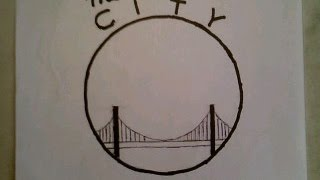 How To Draw The Golden State Warriors Easiest Logo The City Gate Bridge NBA Finals