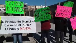 Protesta por gasera en Loma Dorada