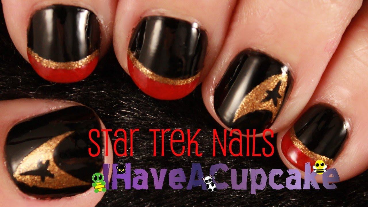 Simple Star Trek Nail Art Youtube
