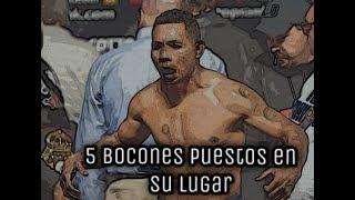 5 boxeadores bocones puestos en su lugar