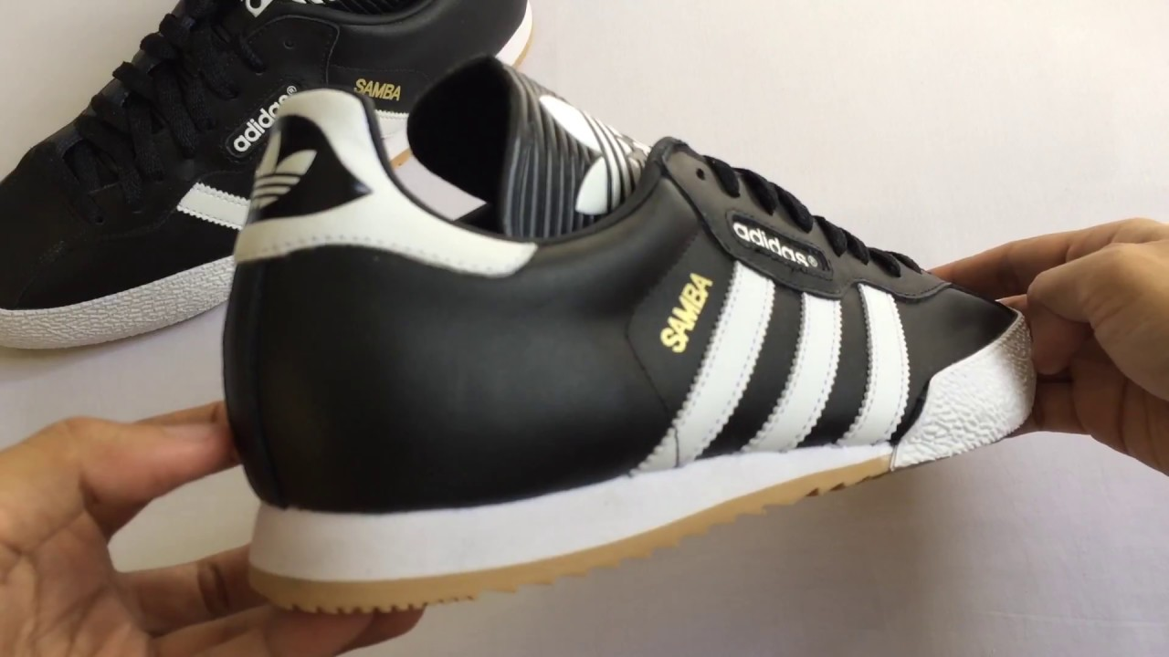 43b57dcab91 Unboxing Adidas Samba Super Black White Leather
