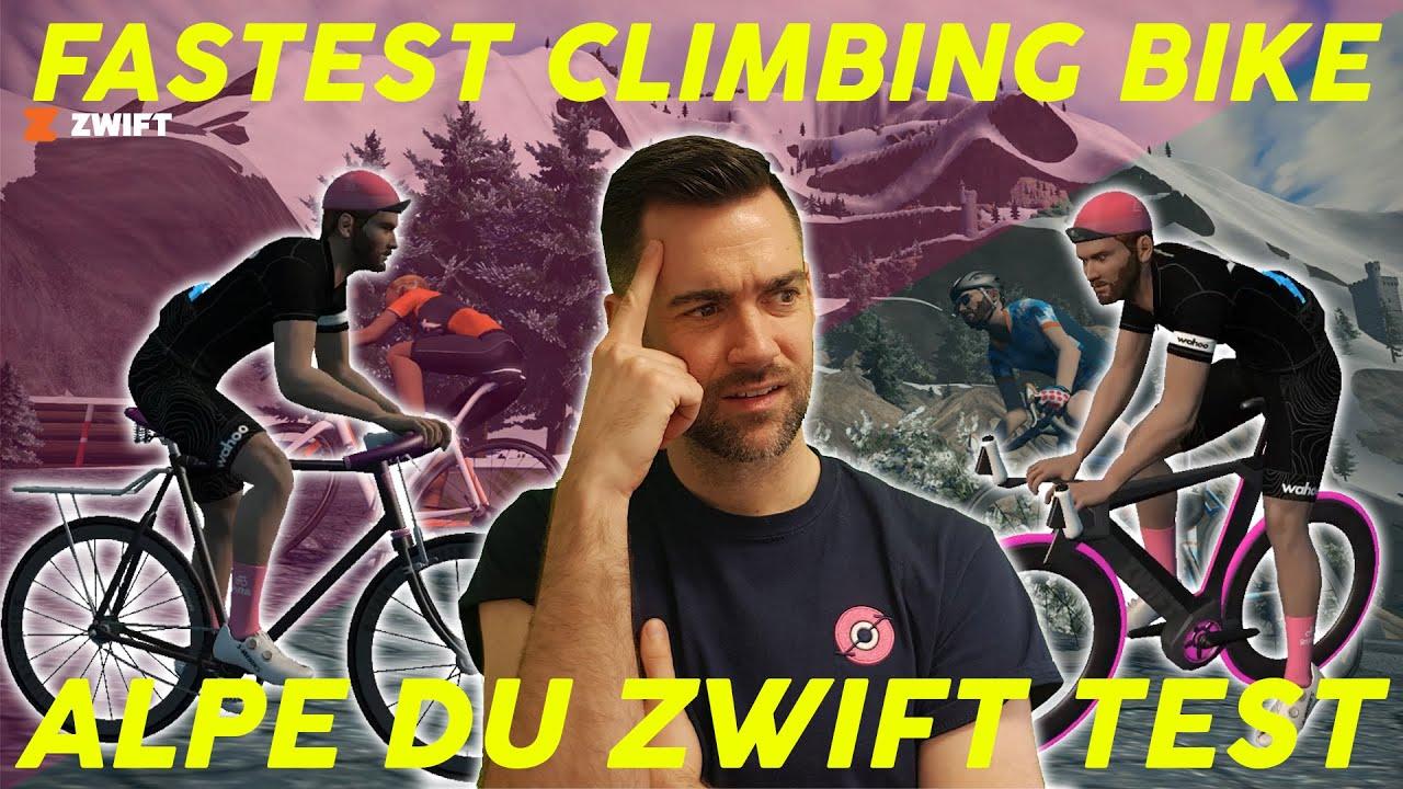 The Fastest Climbing Bike On Zwift Alpe Du Zwift Test Youtube