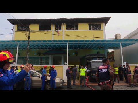 Raw: Fire Kills 23 In Malaysia School Dormitory