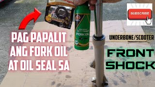 Front shock Fork oil / oil seal replacement (underbone/ scooter motorcycle)