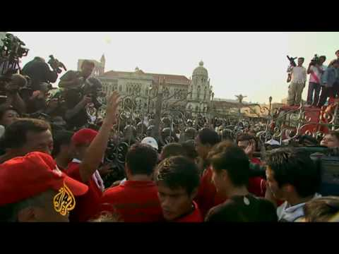 Thailand's Red Shirts in blood protest