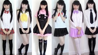 Back to School Outfits(Uniforms) + Bikini Stockings Shoes Review