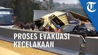 VIDEO: Lokasi Kecelakaan Beruntun Tol Cipularang Kondisi Jalanan Menurun dan Ada Tikungan
