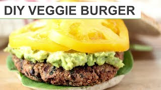 Homemade VEGGIE BURGER Recipe | DIY Veggie Burgers