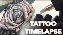 TATTOO TIMELAPSE | BLACK N GREY ROSE | CHRISSY LEE