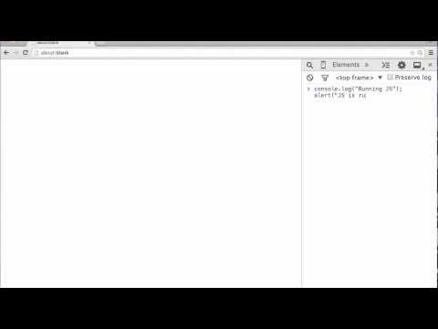 Intro to using the JavaScript Console in Google Chrome