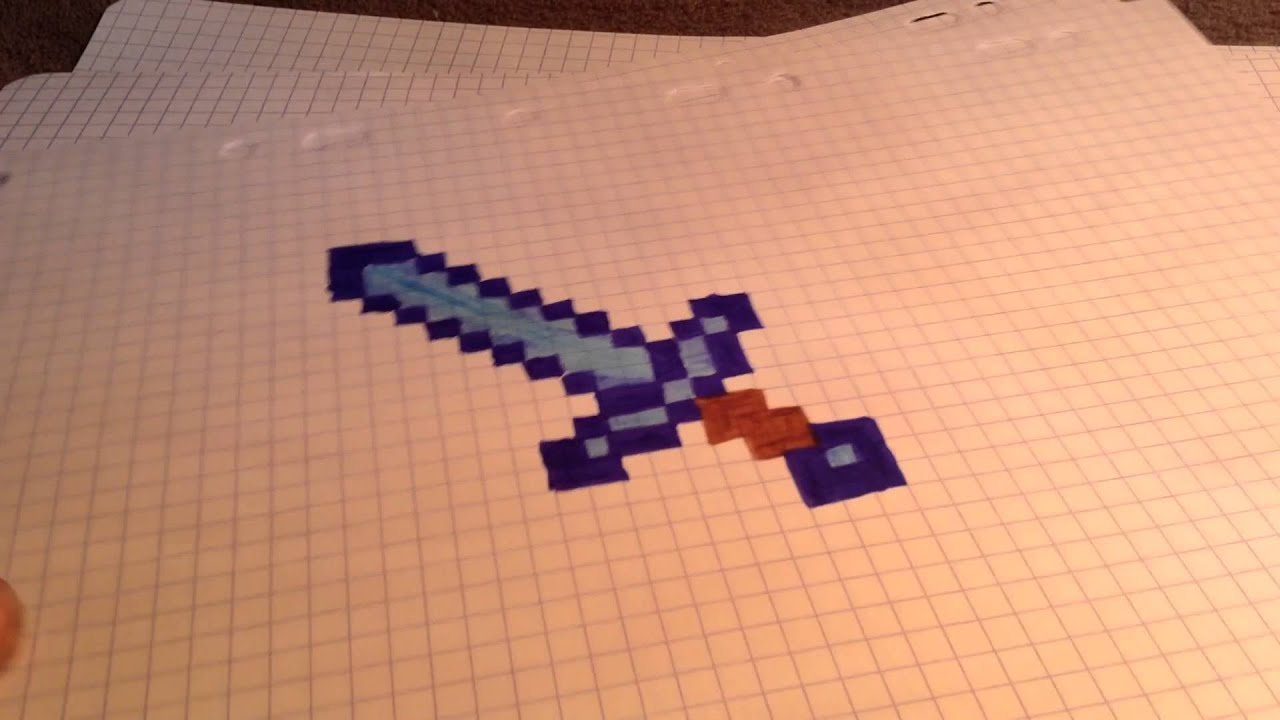 Tuto dessin minecraft outil en diams youtube - Minecraft outils ...