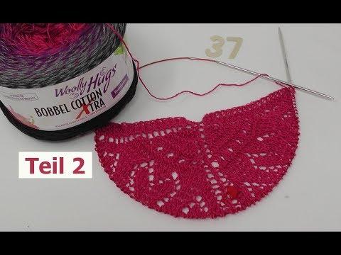 Tuch Herzeltage Einfach Stricken Teil 2 Bobbel Cotton Xtra Von Woolly Hugs