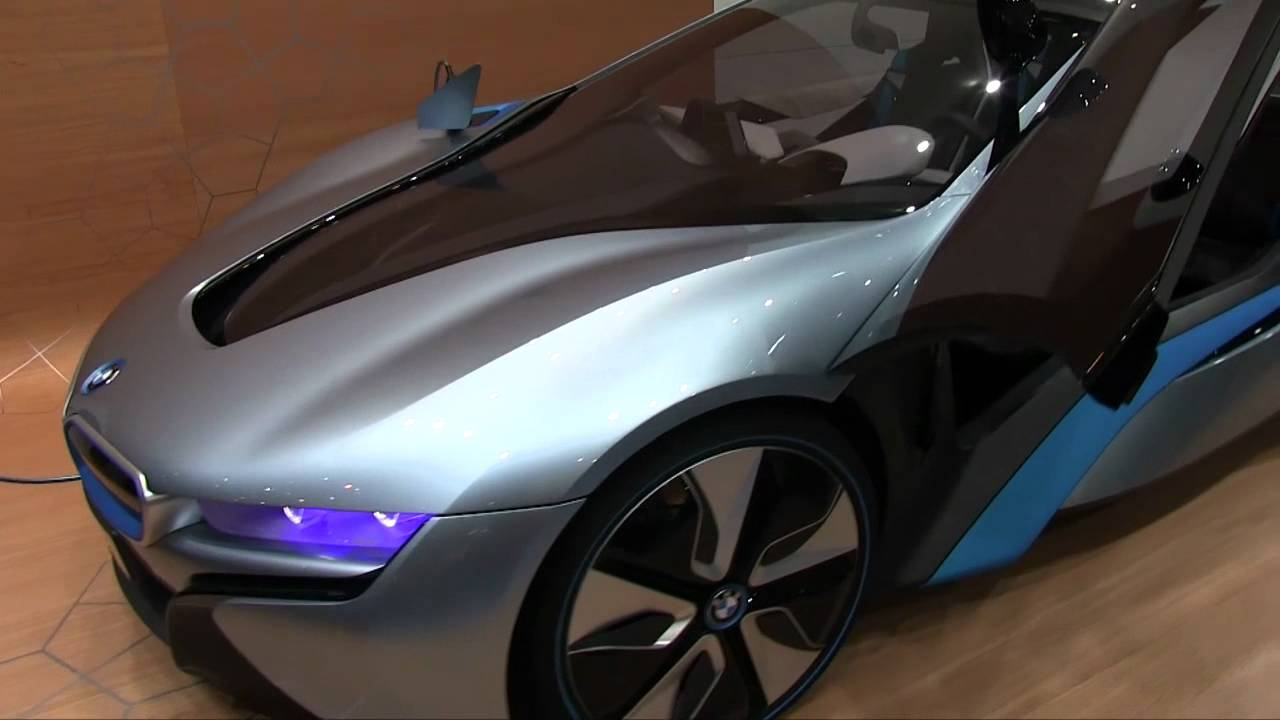 Bmw I8 Plug In Hybrid Concept First Look Youtube