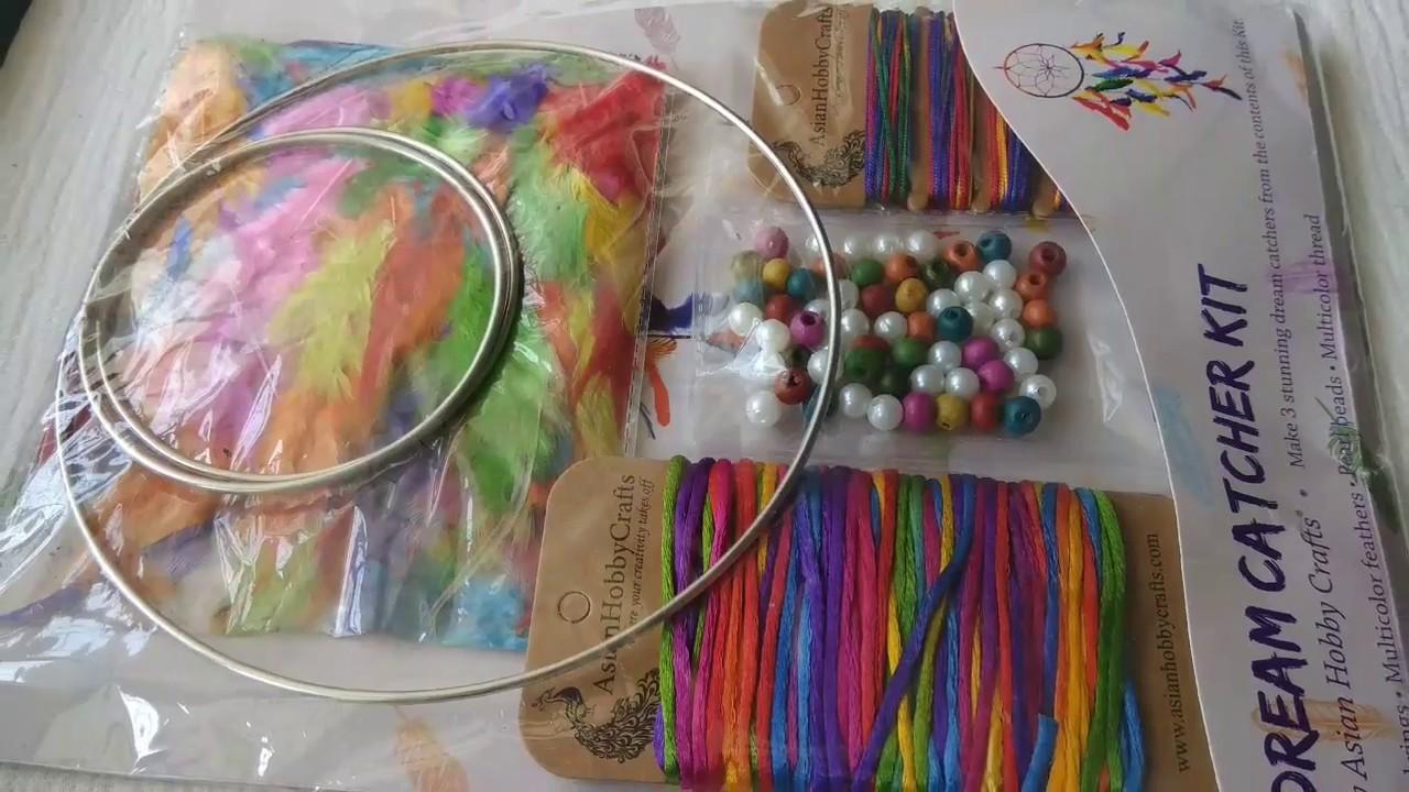 Unboxing Dream Catcher Kit Asian Hobby Crafts Diy Dream Catcher