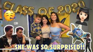 WE SURPRISED MY LITTLE SISTER WITH A GRADUATION PARTY!!!