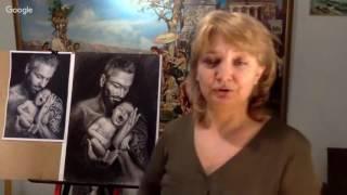 Как рисовать двойной портрет. Урок 1. Онлайн МК по рисованию Портрета