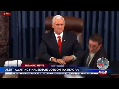 Moment U.S. Senate Passes Historic Trump Tax Reform Bill 51-49