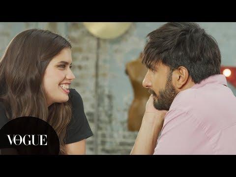 Ranveer Singh teaches Victoria's Secret model Sara Sampaio how to speak in Hindi