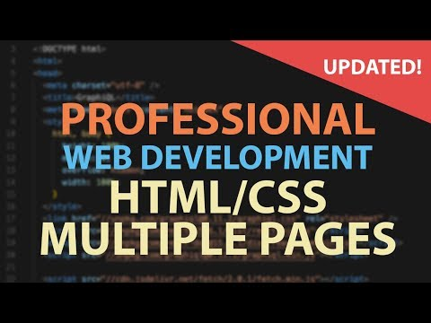 HTML CSS TUTORIAL FOR BEGINNERS - Multiple Pages