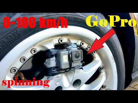 0-100 km/h. Spin GoPro Camera on the TIRE !!! (0-60 mph)